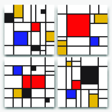 Icon in bauhaus-style